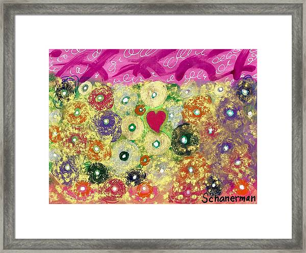 Love And Silly Bubbles Framed Print
