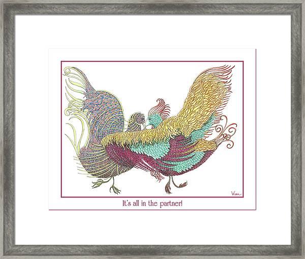 Love Birds Dancing Framed Print