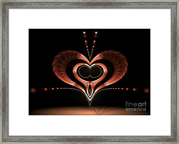 Framed Print featuring the digital art Love Bug by Sandra Bauser Digital Art