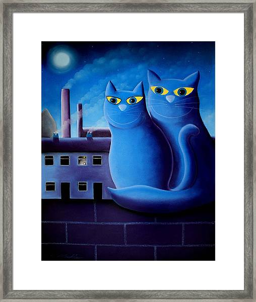 Love By The Pale Moonlight Framed Print
