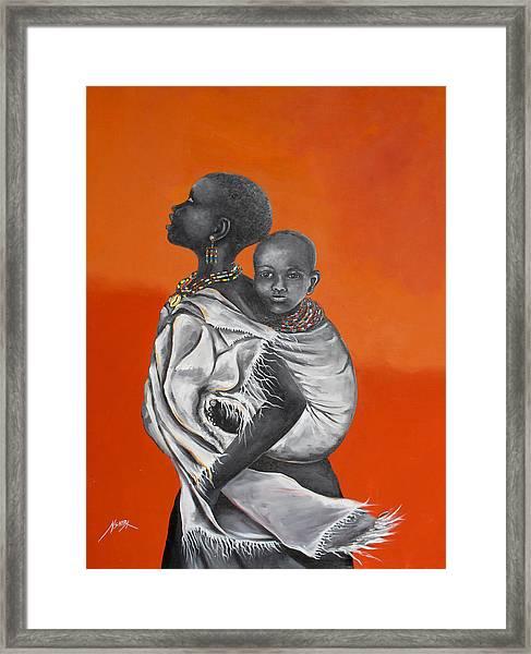 Love Carries Framed Print