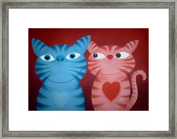Love Catz Framed Print