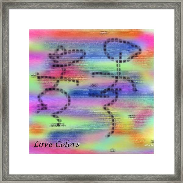 Love Colors Framed Print