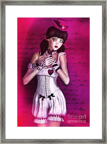 Love Doll Framed Print