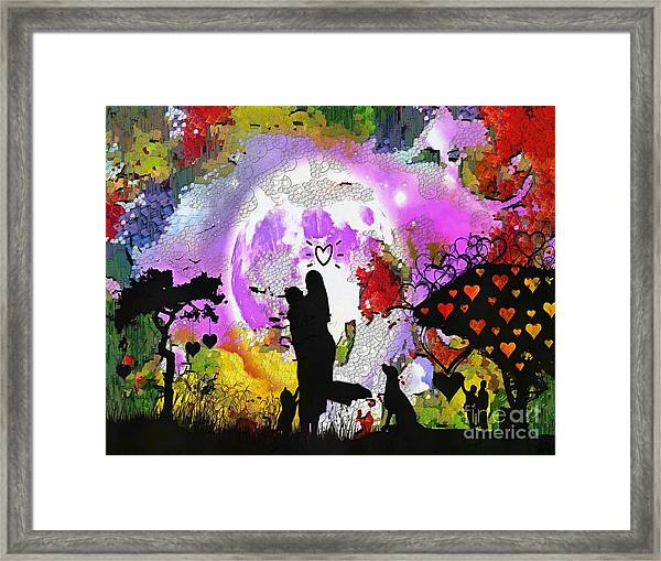 Love Family And Friendship In The Mix Framed Print