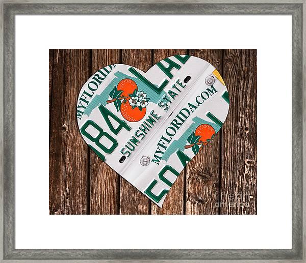 Love Florida Framed Print