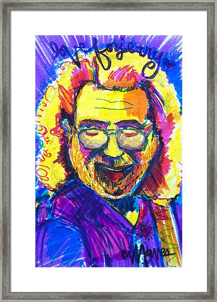 Framed Print featuring the painting Love For Jerry by Laurie Maves ART