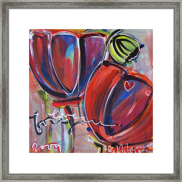 Framed Print featuring the painting Love For You No.3 by Laurie Maves ART