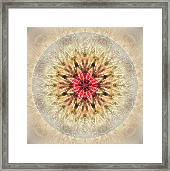 Framed Print featuring the digital art Love From Within Mandala by Beth Sawickie