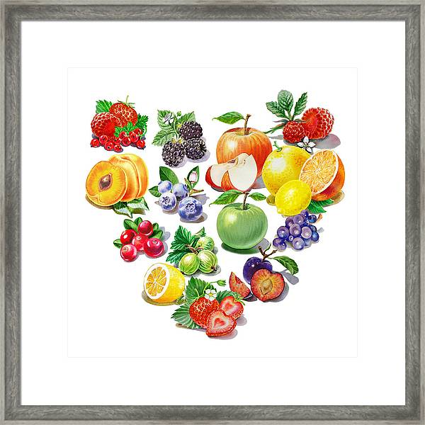 Love Fruits And Berries Framed Print