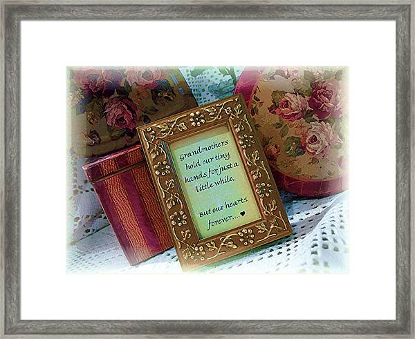 Love Holds Our Hearts Forever Framed Print