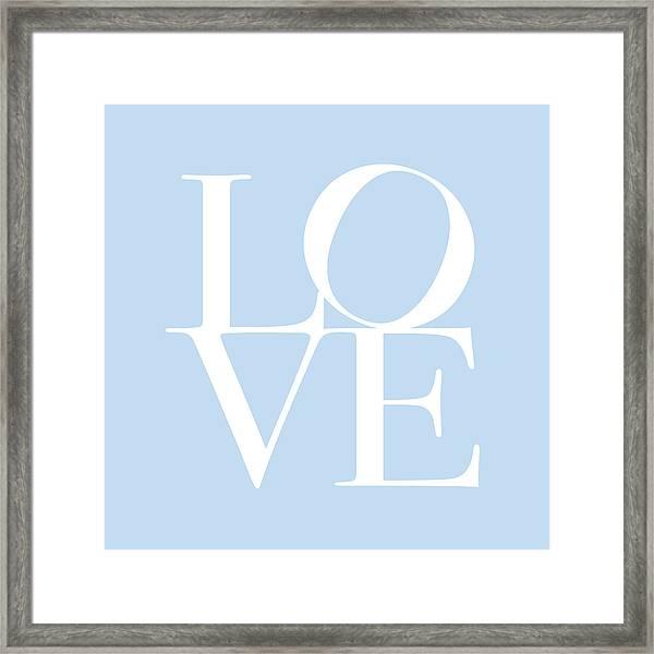 Love In Baby Blue Framed Print