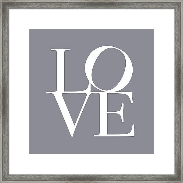 Love In Grey Framed Print