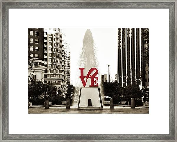 Love In Philadelphia Framed Print