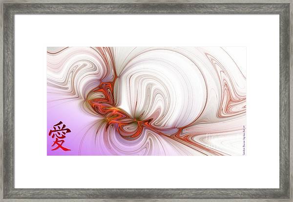 Framed Print featuring the digital art Love In The Orient by Sandra Bauser Digital Art