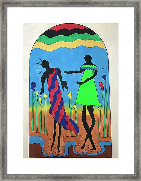Love In The Reeds Framed Print