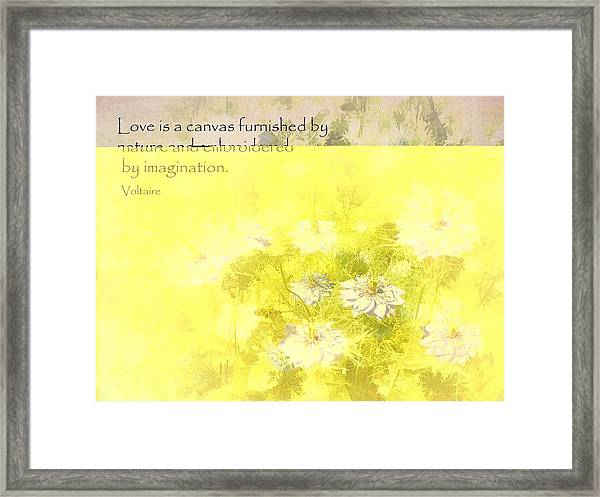 Love Is A Canvas - Nigella Damascena Framed Print