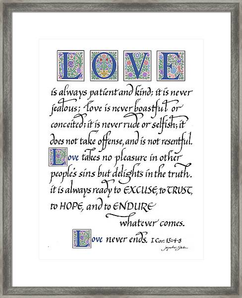 Love Is Always Patient Framed Print