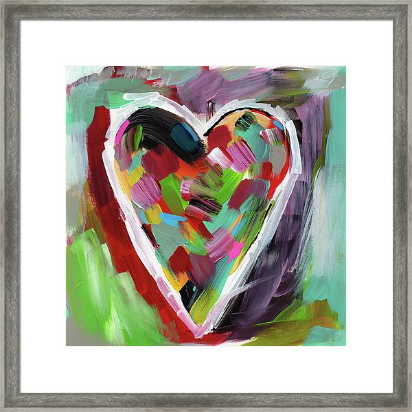Love Is Colorful 3- Art By Linda Woods Framed Print