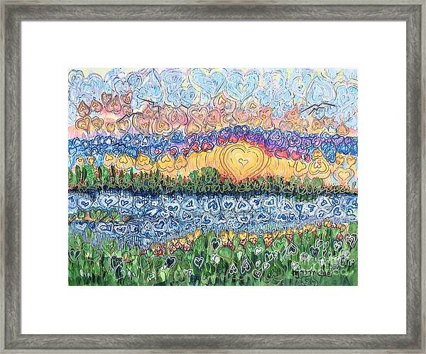 Love Is Everywhere If You Look Framed Print