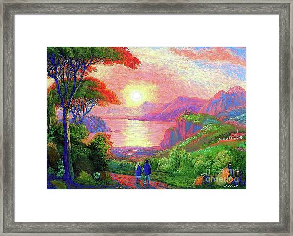 Love Is Sharing The Journey Framed Print