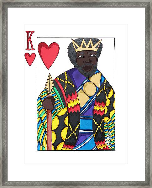 Love King Framed Print