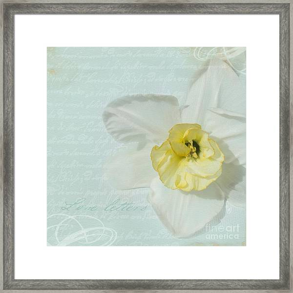 Love Letters From A Spring Romance Framed Print