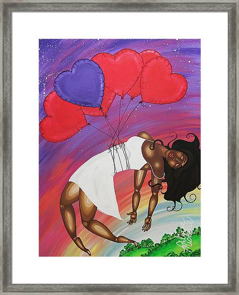 Love Lifts Us Up Framed Print