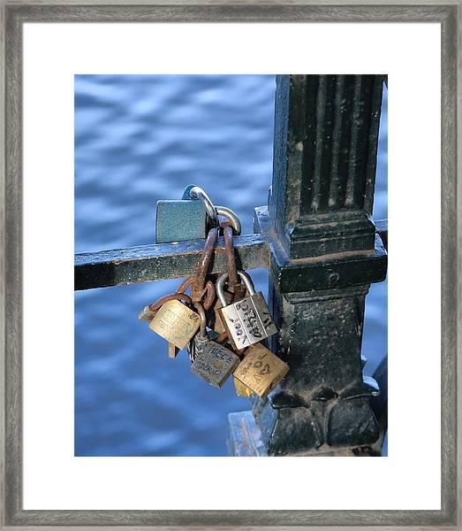 Love Lock Framed Print
