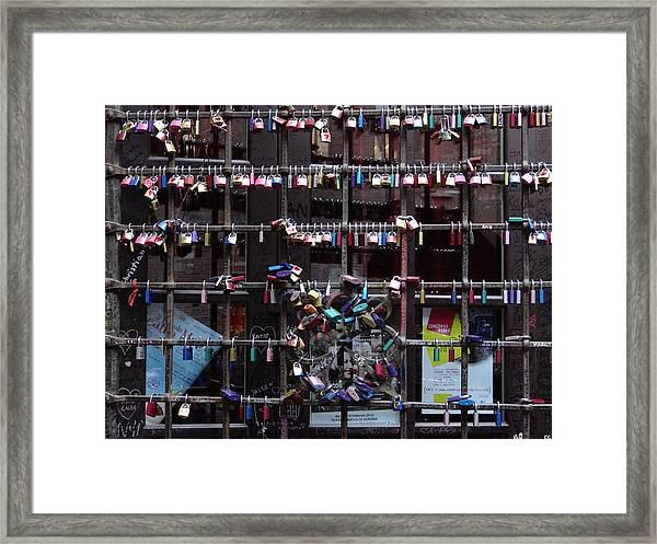 Love Locks At Juliet's House Framed Print
