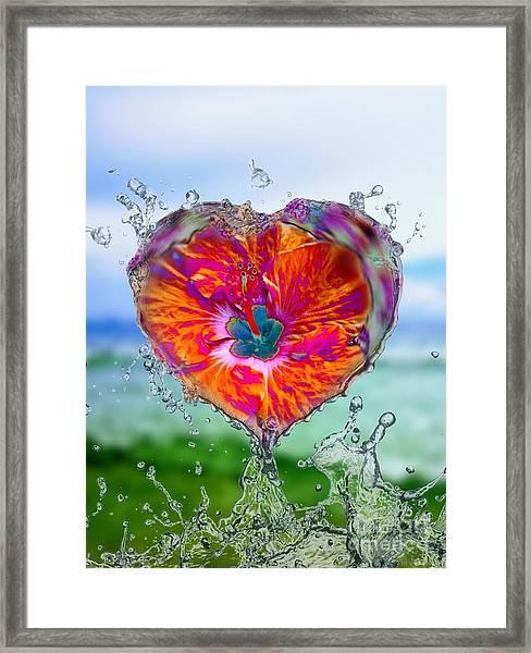 Love Makes A Splash Framed Print