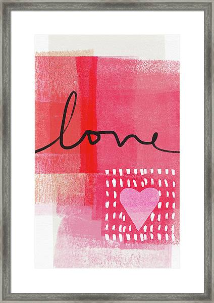 Love Notes- Art By Linda Woods Framed Print