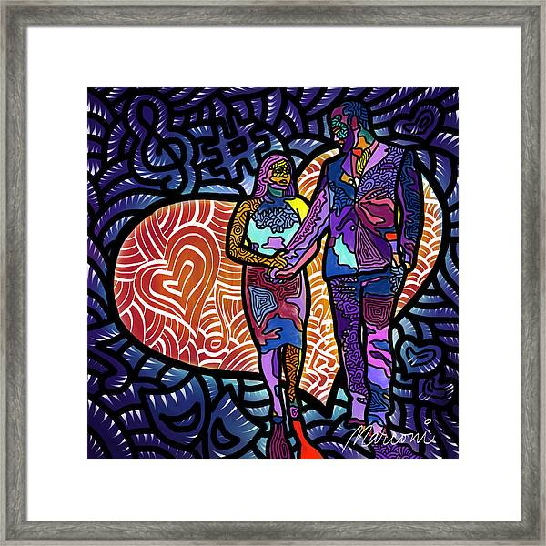 Love On High Notes Framed Print