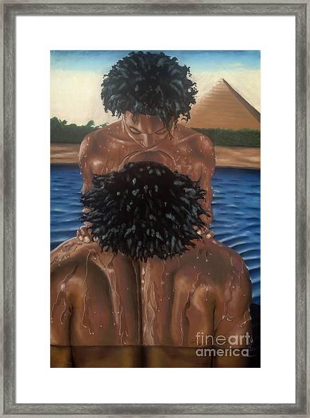 Love On The Nile Framed Print by Sandra Pryer