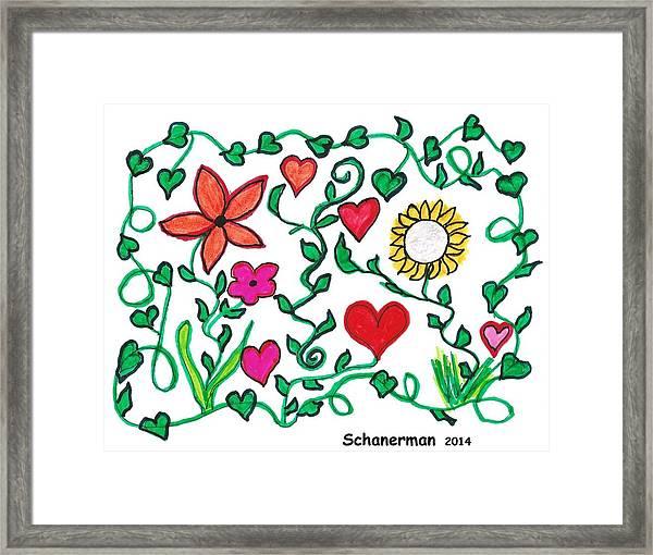 Love On The Vine Framed Print