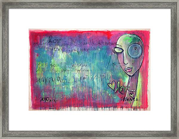 Framed Print featuring the painting Love Painting by Laurie Maves ART