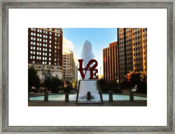 Love Park - Love Conquers All Framed Print