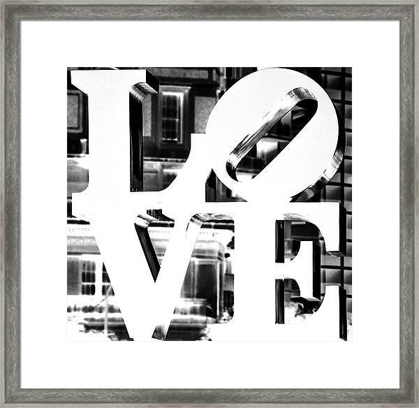 Love Philadelphia White  Framed Print
