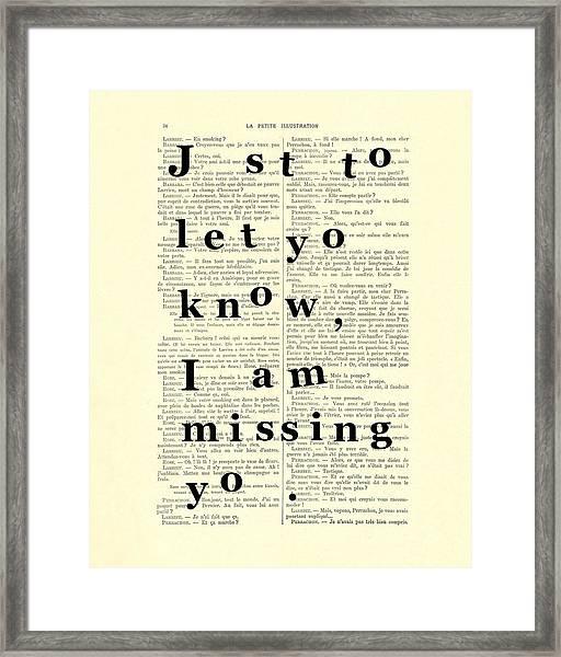 Love Poem, Valentine Gift  Framed Print