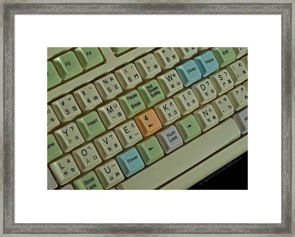 Love Puzzle Keyboard Framed Print