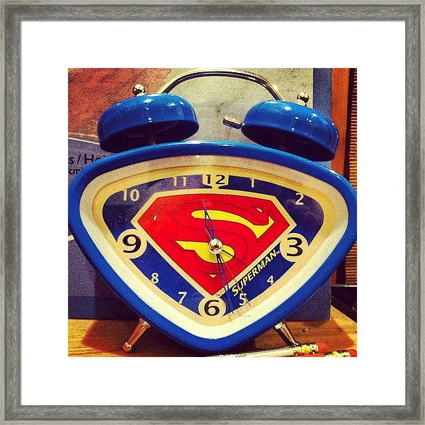 Superman Clock Framed Print