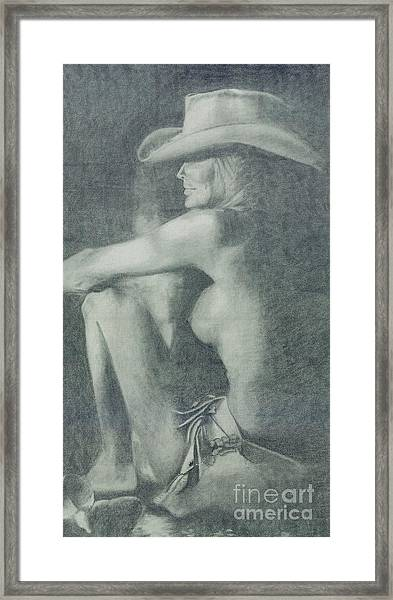 Love Those Cowgirls Framed Print