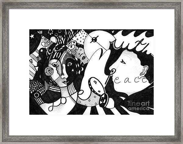 Love Truth Peace Framed Print