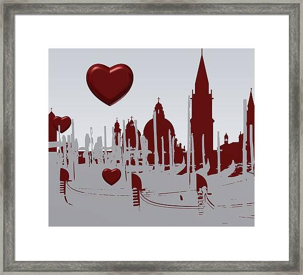 Love Venice Framed Print