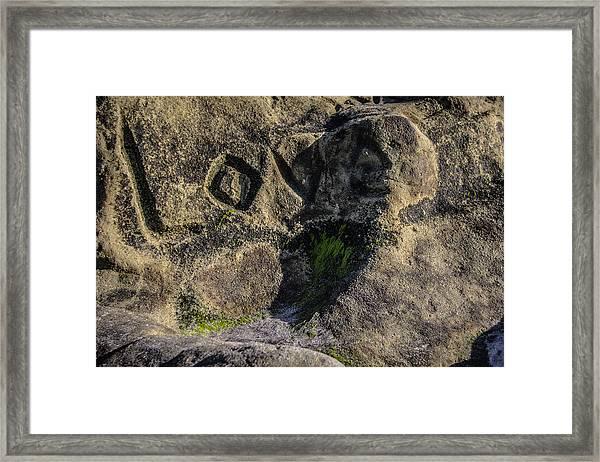 Love Written In Stone Framed Print