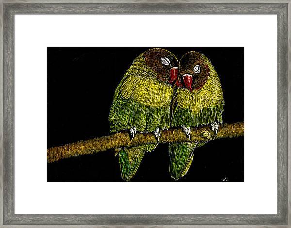 Lovebirds Framed Print
