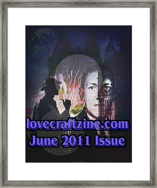 Lovecraftzine Coverpage June Framed Print