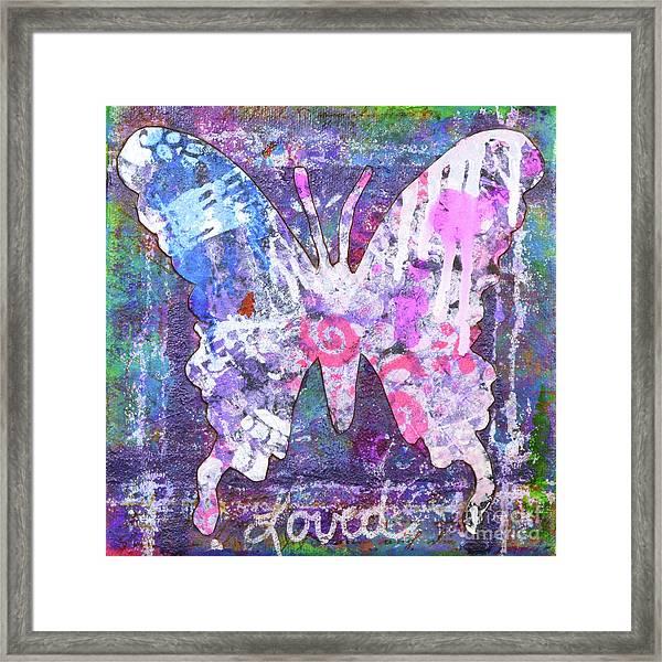 Loved Butterfly Framed Print