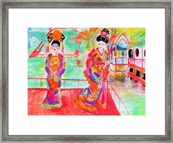 Lovely Asian Ladies Framed Print