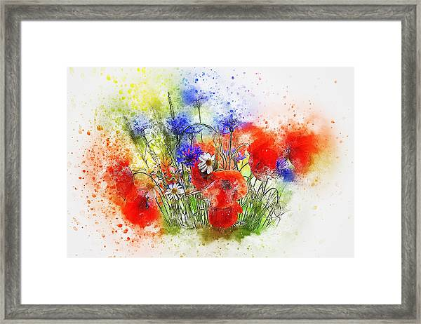 Watercolour Bouquet Framed Print